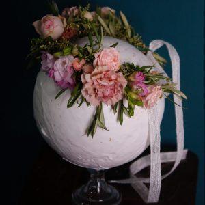 Tocado de flor preservada